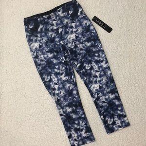 Vogo Blue Tie Dye Crop Legging